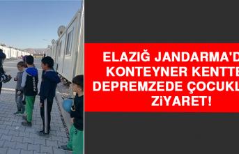 Elazığ Jandarma'dan Konteyner Kentteki Depremzede Çocuklara Ziyaret