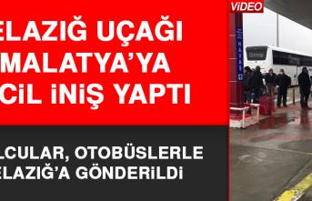 Elazığ Uçağı Malatya'ya Acil İniş Yaptı