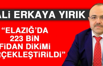 Elazığ'da 223 Bin Fidan Dikimi Gerçekleştirildi