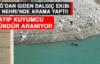 Elazığ'dan Giden Dalgıç Ekibi Fırat Nehri'nde Arama Yaptı