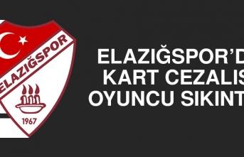 Elazığspor'da Kart Cezalısı Oyuncu Sıkıntısı