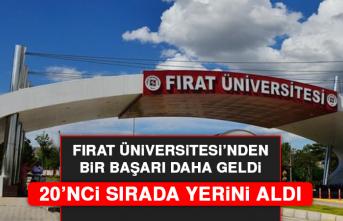 Fırat Üniversitesi'nden Bir Başarı Daha Geldi; 20'nci Sırada Yerini Aldı