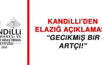 Kandilli'den Elazığ açıklaması: Gecikmiş bir artçı!