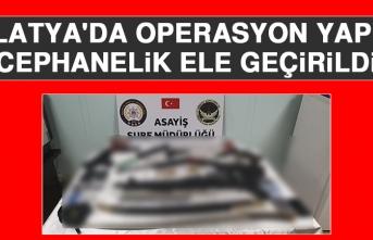 Malatya'da Operasyon Yapıldı Cephanelik Ele Geçirildi
