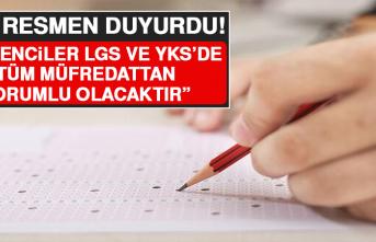 """MEB Resmen Duyurdu! """"Öğrenciler LGS ve YKS'de Tüm Müfredattan Sorumlu Olacaktır!"""""""
