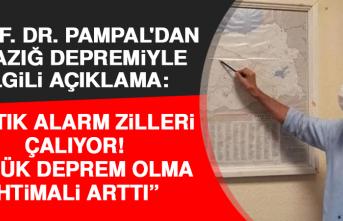 """Prof. Dr. Pampal'dan Elazığ Depremiyle İlgili Açıklama: """"Artık Alarm Zilleri Çalıyor, Büyük Deprem Olma İhtimali Arttı"""""""