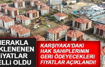 TOKİ Karşıyaka'daki Konutların Geri Ödeme Fiyatlarını Açıkladı