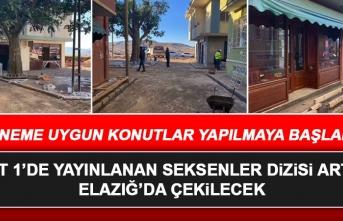 TRT 1'de Yayınlanan Seksenler Dizisi Artık Elazığ'da Çekilecek