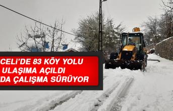Tunceli'de 83 Köy Yolu Ulaşıma Açıldı, 49'unda Çalışma Sürüyor