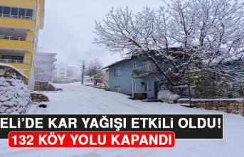 Tunceli'de Kar Yağışı Etkili Oldu, 132 Köy Yolu Kapandı!