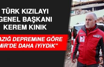 Türk Kızılayı Genel Başkanı Kınık, Elazığ Depremiyle İlgili Konuştu