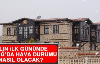 1 Ocak'ta Elazığ'da Hava Durumu Nasıl Olacak?