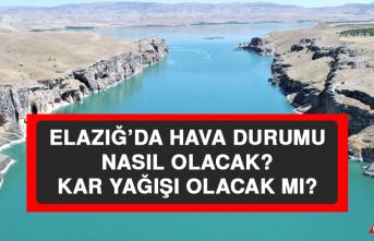27 Ocak'ta Elazığ'da Hava Durumu Nasıl Olacak?