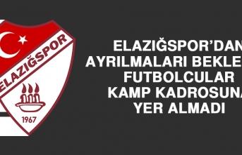 Ayrılmaları Beklenen Futbolcular Kamp Kadrosuna Yer Almadı