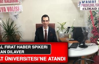 Başarılı Çalışmalara İmza Atan Furkan Dilaver, Fırat Üniversitesi'ne Atandı