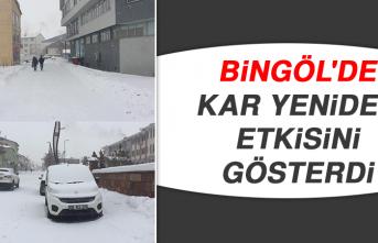 Bingöl'de Kar Yeniden Etkisini Gösterdi