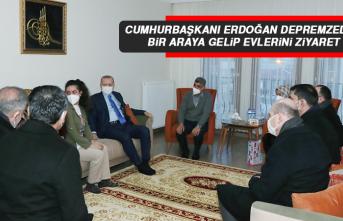 Cumhurbaşkanı Erdoğan Depremzedelerle Bir Araya Gelip Evlerini Ziyaret Etti