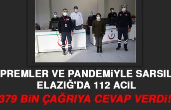 Depremler ve Pandemiyle Sarsılan Elazığ'da 112 Acil, 379 Bin Çağrıya Cevap Verdi
