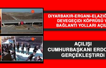 Diyarbakır-Ergani-Elazığ Yolu'nun Açılışını Cumhurbaşkanı Erdoğan Gerçekleştirdi