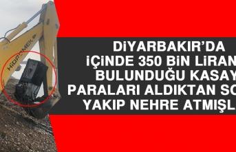 Diyarbakır'da İçinde 350 Bin Liranın Bulunduğu Kasayı, Paraları Aldıktan Sonra Yakıp Nehre Atmışlar