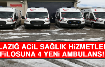 Elazığ Acil Sağlık Hizmetleri Filosuna 4 Yeni Ambulans
