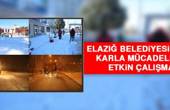 Elazığ Belediyesi'nden Karla Mücadelede Etkin Çalışma