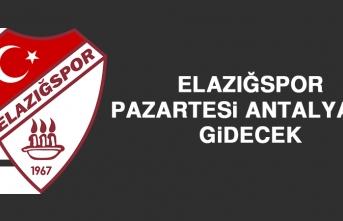 Elazığspor, Pazartesi Antalya'ya Gidecek