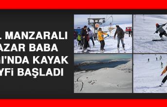 Göl Manzaralı Hazar Baba Dağı'nda Kayak Keyfi Başladı