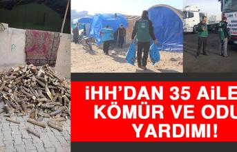 İHH'dan 35 Aileye Kömür ve Odun Yardımı