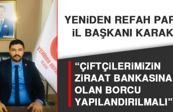 """İl Başkanı Karakuş """"Çiftçilerimizin Ziraat Bankasına Olan Borcu Yapılandırılmalı"""""""