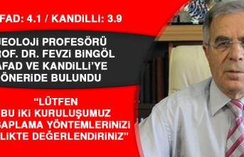 Jeoloji profesörü Prof. Dr. Bingöl: İlk defa AFAD'ın değeri daha yüksek