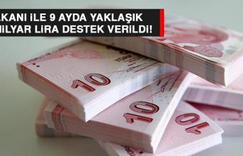 9 Ayda Yaklaşık 45,5 Milyar Lira Destek Verildi!