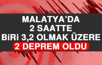 Malatya'da 3,2 Büyüklüğünde Deprem Meydana Geldi
