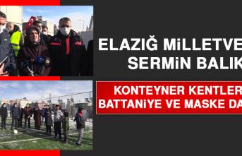 Milletvekili Sermin Balık, Konteyner Kentlerde Battaniye ve Maske Dağıttı