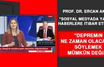 Prof. Dr. Aksoy: Sosyal Medyada Yayılan Haberlere İtibar Etmeyin
