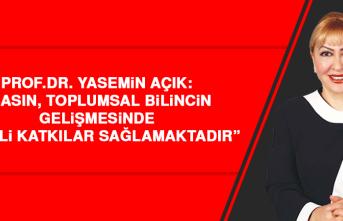 """Prof. Dr. Yasemin Açık: """"Gazetecilik Mesleği, Özveri ve Fedakârlık Mesleğidir"""""""