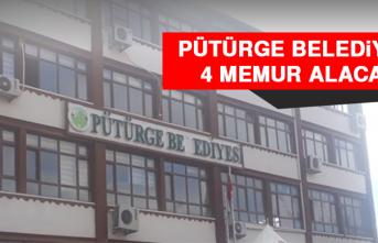 Pütürge Belediyesi 4 Memur Alacak