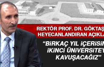 Rektör Prof. Dr. Göktaş'tan Elazığlıları Heyecanlandıran Açıklama
