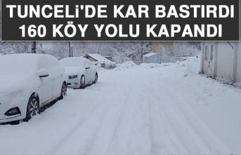 Tunceli'de Kar Bastırdı, 160 Köy Yolu Kapandı!