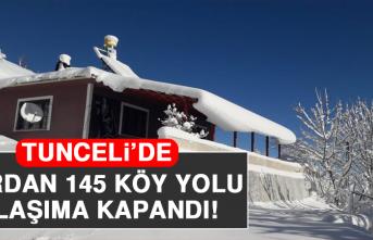 Tunceli'de Kardan 145 Köy Yolu Ulaşıma Kapandı