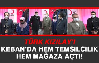 Türk Kızılay'ı, Keban'da Hem Temsilcilik Hem Mağaza Açtı