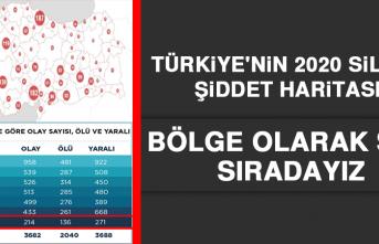 Türkiye'nin 2020 Silahlı Şiddet Haritası! Bölge Olarak Son Sıradayız