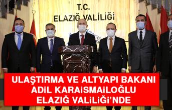 Ulaştırma Bakanı Adil Karaismailoğlu Elazığ Valiliği'nde