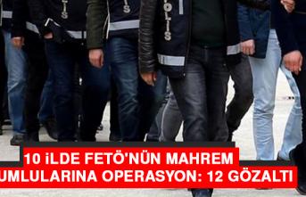 Elazığ'da Dahil 10 İlde FETÖ'ye Operasyon: 12 Gözaltı