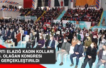 AK Parti Elazığ Kadın Kolları 6. Olağan Kongresi Gerçekleştirildi