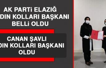 AK Parti Elazığ Kadın Kolları Başkanı Canan Şavlı Oldu