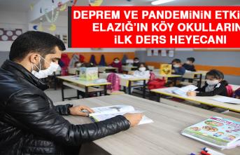 Deprem ve Pandeminin Etkilediği Elazığ'ın Köy Okullarında İlk Ders Heyecanı