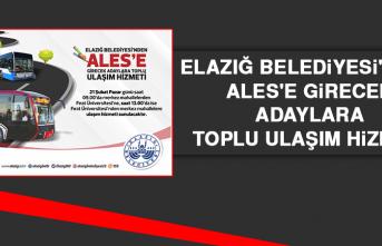 Elazığ Belediyesi'nden ALES'e Girecek Adaylara Toplu Ulaşım Hizmeti
