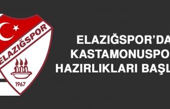 Elazığspor'da Kastamonuspor Hazırlıkları Başladı