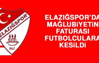 Elazığspor'da Mağlubiyetin Faturası Futbolculara Kesildi